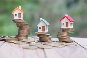 small houses on coins