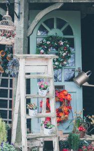 decorative door and porch