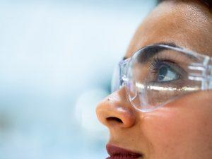 woman wearing goggles