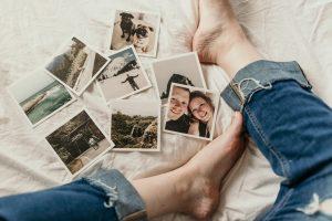 photos on the floor