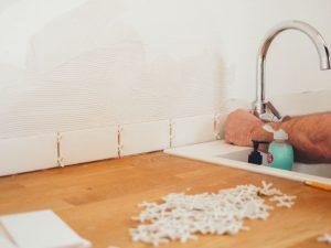 tiling a floor