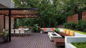 backyard remodeled